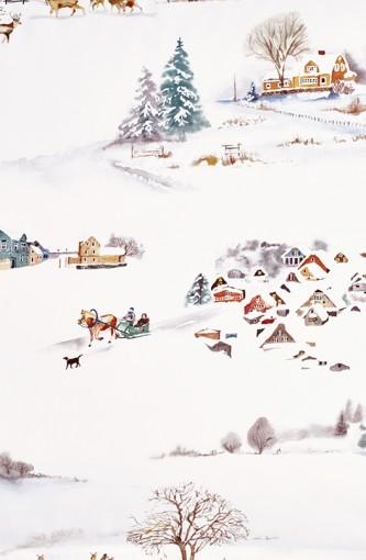 Das romantisch-winterlich Dessin Wintermorgen..