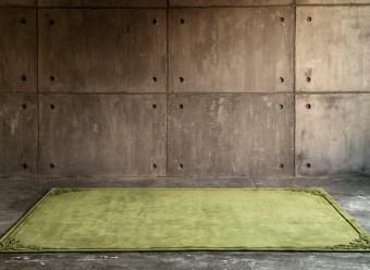 Christian-Fischbacher-Teppich-Stucco-Merinowolle-olivgrün