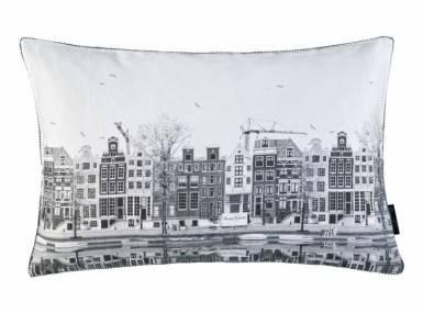 Vorschaubild christian fischbacher nederlands dekokissen grau weiss