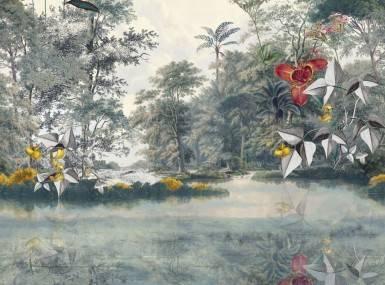 Vorschaubild christian fischbacher tapete newtopia gruen 200337 detail1