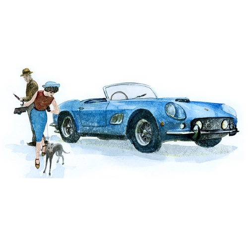Bettwäsche Rallye 1961 Ferrari 250 GT California