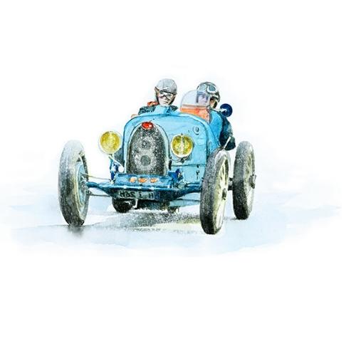 Bettwäsche Rallye Bugatti Type 37A