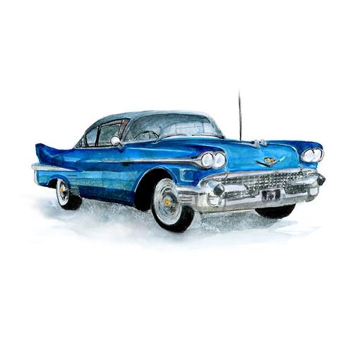 Bettwäsche Rallye Cadillac Fleetwood (1958-1959)