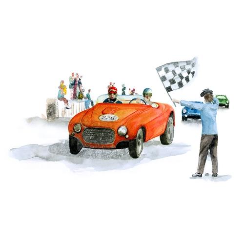 Bettwäsche Rallye Ferrari 250 Mille Miglia Vignale Spider 1953