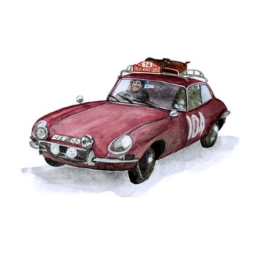 Bettwäsche Rallye Jaguar E Type